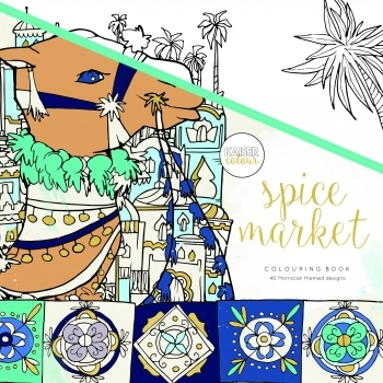 KaiserColour 'Spice Market' Adult Colouring Book