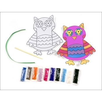 Sand Art Owl - BULK PACKED