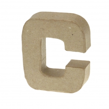 Paper Mache Small Letter C - 10cm high x 2cm thick