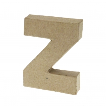 Paper Mache Small Letter Z - 10cm high x 2cm thick
