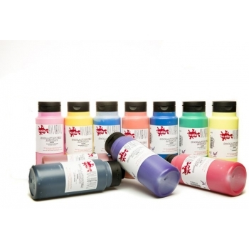Ready Mixed Acrylic Paints - 500ml Carbon Black by Scola