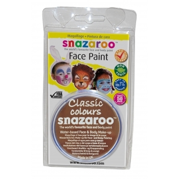 Snazaroo Face and Body Paints - Light Brown - 18ml