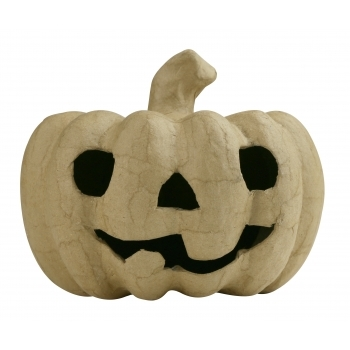 Paper Mache Pumpkin With Face