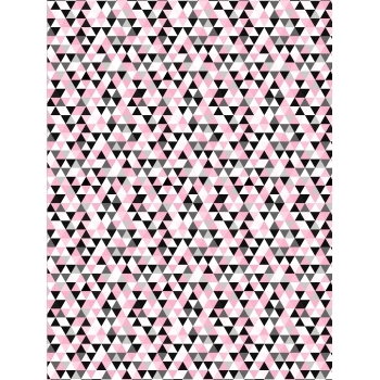 Decopatch Paper - Half Sheet - Pink Triangles