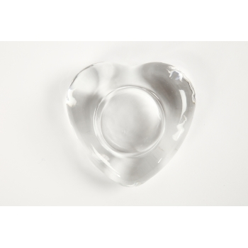 Clear Glass Heart Shaped Tea Light Holder - Box Of 10