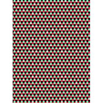 Decopatch Paper 760 - Half Sheet - Honeycomb Black