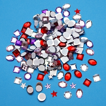 Self Adhesive Sparkly Jewel Embelishments- 250 Pack