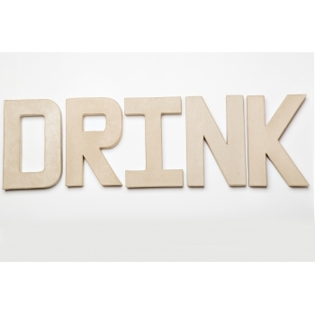 Drink - Paper Mache Letters for Decorating