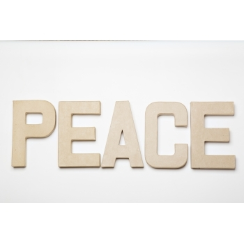 PEACE - Paper Mache Letters for Decorating and Decopatch