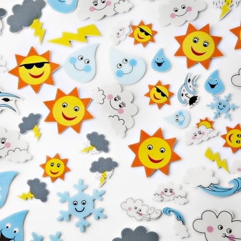 Foam Weather Stickers - 50 Pack