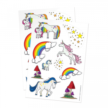 Magical Unicorn Paper Stickers for Crafts & Decorating