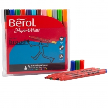 Berol Colourbroad Pens Pack 12