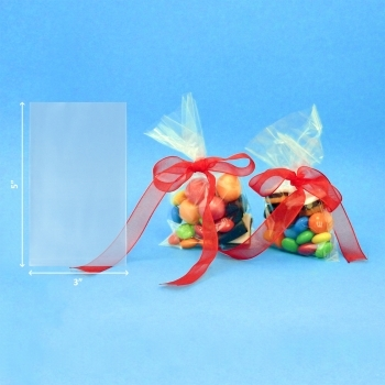 Cellophane Sweet Bags - 3 X 5 Inches 100 Pack