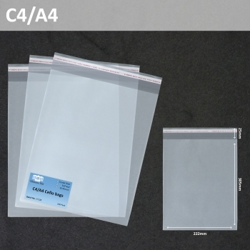 A4 Cellophane Bags - 100 Pack