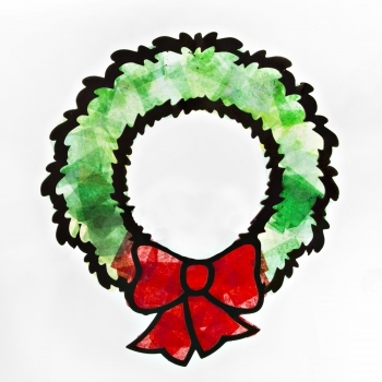 Tissue Paper Wreath Kit