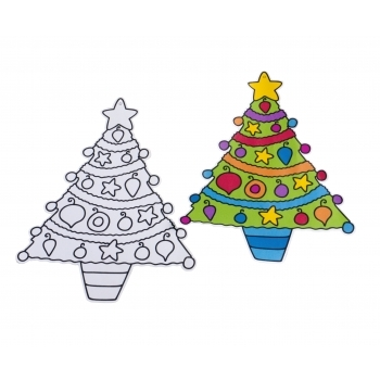 Sand Art Hangng Christmas Trees - BULK PACKED