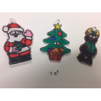 Christmas Suncatchers (Christmas Tree, Reindeer & Father Christmas)