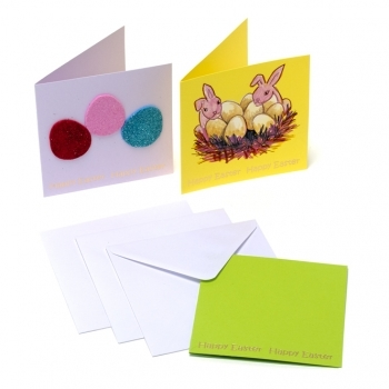 Gold Foiled Happy Easter Cards - 3 Pack