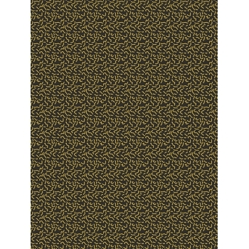 Decopatch Paper 779 Texture - Half Sheet - Black/Gold Squiggle