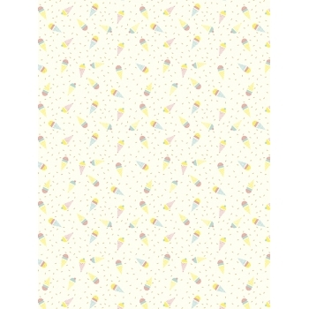 Decopatch Paper Texture 785 - Half Sheet - Gold Ice Cream