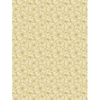 Decopatch Paper 790 Texture - Half Sheet - Gold Flowers