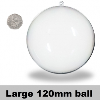 Clear Acrylic Baubles - 120mm