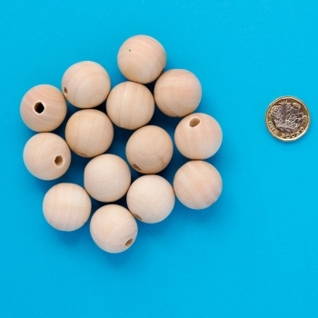 Wooden Bead - 25mm Pack Of 25