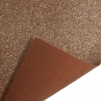 Rose Gold Glitter Felt Sheet
