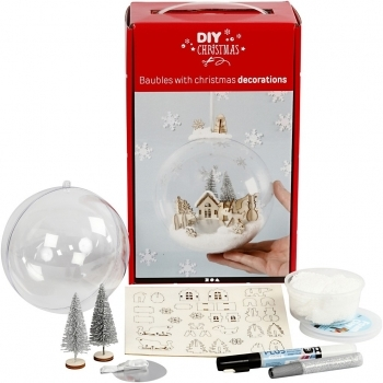 Christmas Scene Bauble Kit