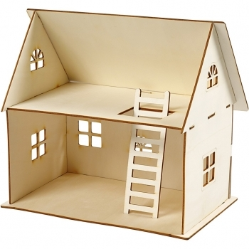 Self Assembly Wooden Dolls House