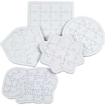 5 Assorted Shaped Puzzles - Pack Of 10