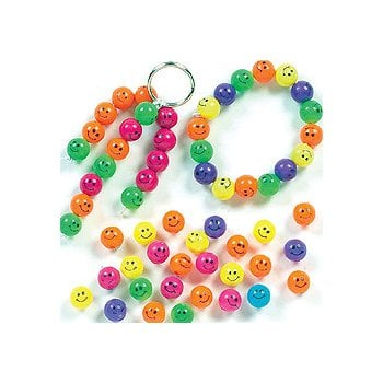 Smiley Face Beads - 500 Pack
