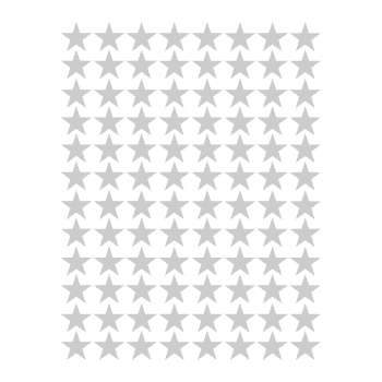 Silver Stars Peel And Stick 20mm(pack Of 2100)
