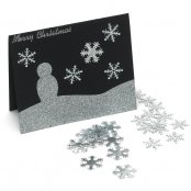 20mm Silver Fabric Snowflake Toppers