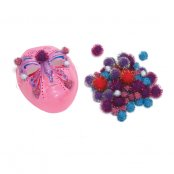 Glitter Pom-Poms 40mm - Pack of 100