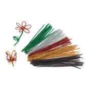 Pack Of 100 Festive Pipe Cleaners
