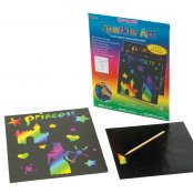 Scratch Art Princess Stickers