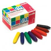 Scola Box Of 40 Assorted Chubbi Stump Crayons
