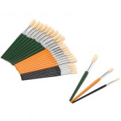 Major Brushes Group Set Of Hog Brushes - 30 Pack