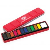 Major Brushes 12 Block Artist Watercolour Set