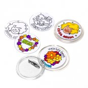 Colour-In Mothers' Day Badges