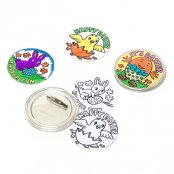 Colour-In Easter Badges - 4 Pack