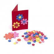 Foam Flower Glitter Stickers