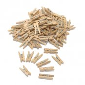 Wooden Mini Pegs Plain