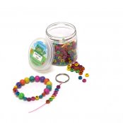Coloured Round Alphabet Beads - 400 Pack