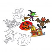 Colour-In Halloween Figures- Pack of 4