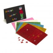 Self-adhesive Glitter Foam Alphabet Sheets