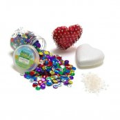 Pack Of 10 Polystyrene Hearts