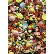 Decopatch Paper 462 - Half Sheet -  Coloured Sweets