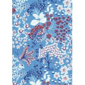 Decopatch Paper 524 - Half Sheet - Blue/Red/White Trees, Leaves